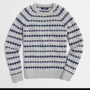 J. Crew Factory Diamond Fair Isle Sweater